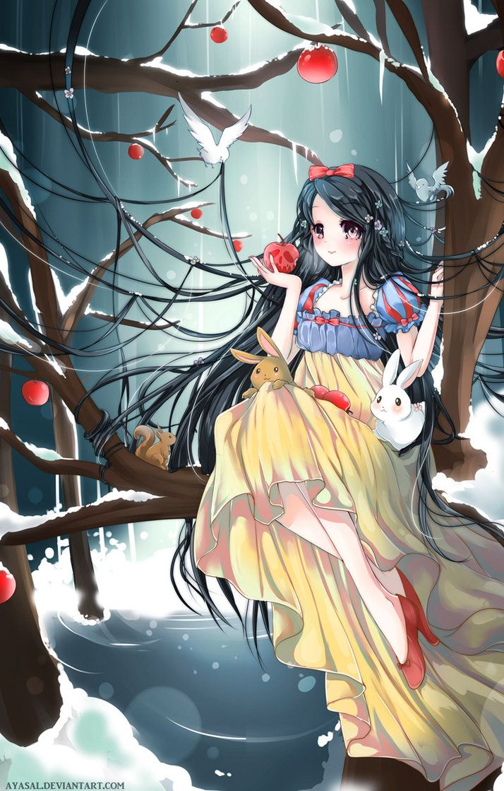 Whoever did this must be very, seriously very awesome. I love Snow White and I love her more in anime❤❤❤❤