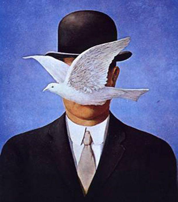 """""""L'Homme au Chapeau Melon"""" de Magritte, 1964"""