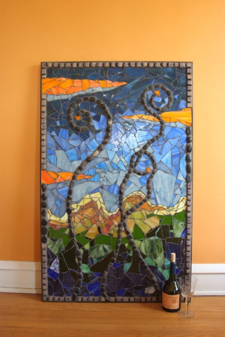 64 best mosaic designs images on pinterest mosaic for Mosaic landscape design