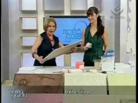 Textura - Efeito Tulipas 2/2 - Programa Manhã Gazeta by Ângela Ferraz