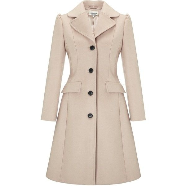 Somerset by Alice Temperley Fit and Flare Coat, Mink found on Polyvore