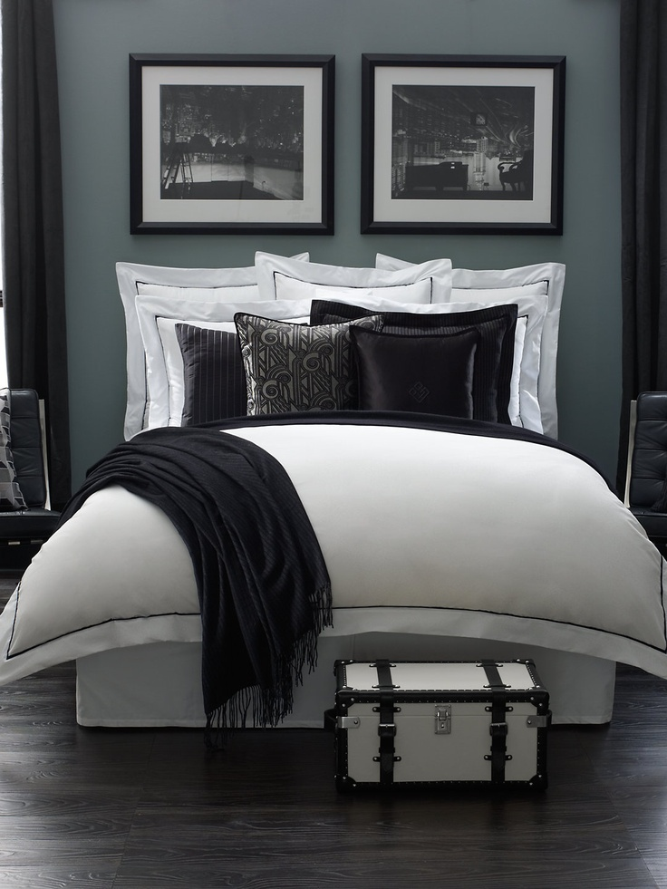 Art Deco and menswear styling. Chairman Bed Collection - Bed Collections  Home - RalphLauren.com