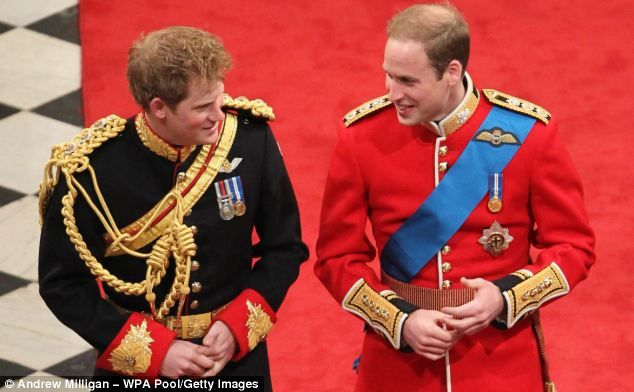 Prince Harrys hair was showing clear signs of a growing bald patch at Prince Williams wedding in 2011