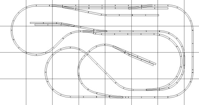 N Scale Dog Bones and Branchline Model Railroad Track Plan: N Scale Dog Bones - A Longer Mainline with Added Features