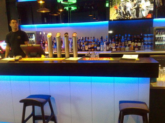 Acrylic and LED Lighting used in a Bar and Drinks Display