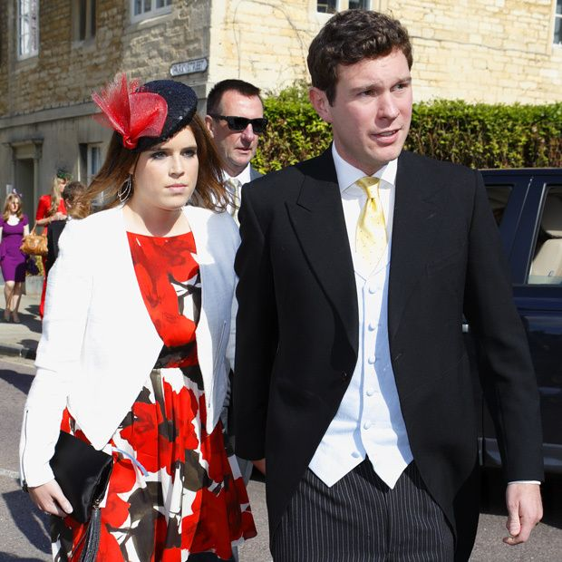 Princess Eugenie and Jack were a dapper pair yet again in June 2013, when they attended the wedding of Lady Natasha Rufus Isaacs and Rupert Finch in Cirencester, England.
