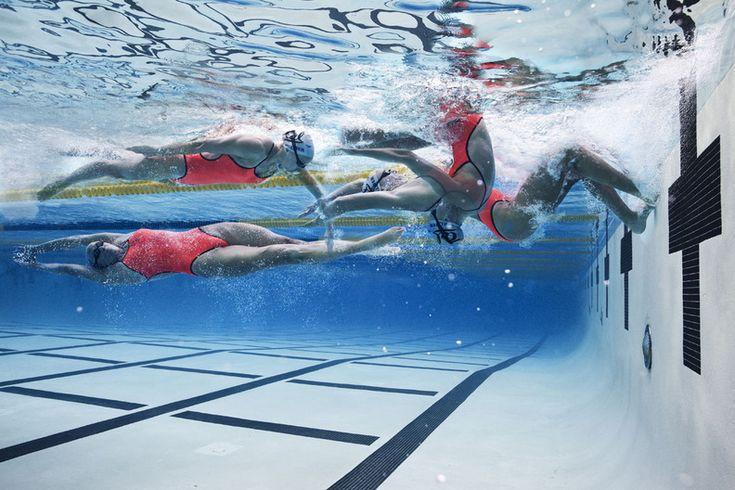 Dana Vollmer flip turn. #swimming