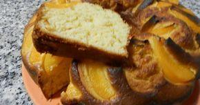 Fabulosa receta para Bizcocho con melocotón . Este bizcocho lleva melocotón en almíbar por variar algo y no hacer siempre los mismos bizcochos este resulto muy sabroso.