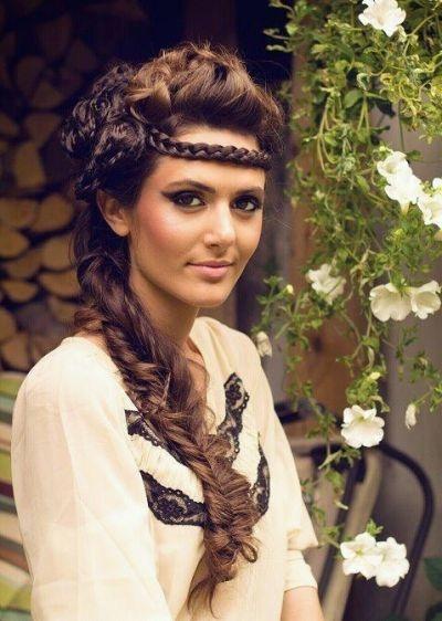 Hoofdband gemaakt van gevlochten haar #Hair #Accessory