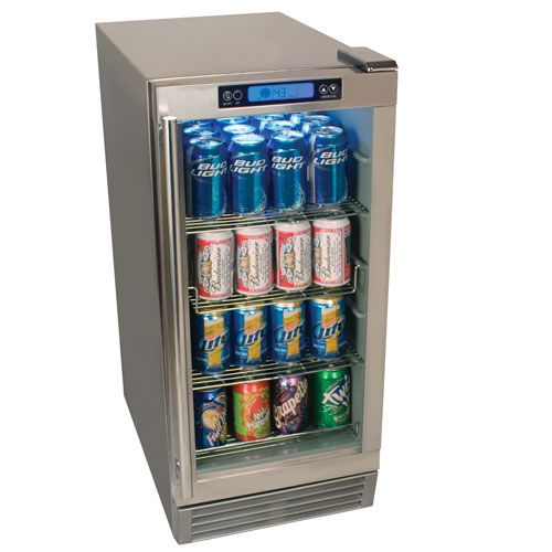Manufacturer: EdgeStar | Item: EdgeStar 84 Can Outdoor Beverage Refrigerator | Finish: Stainless Steel | Quantity: 2