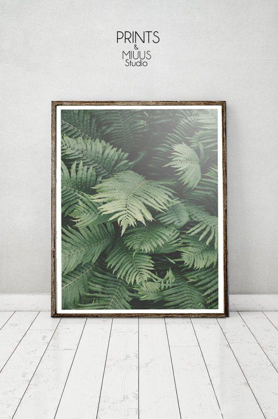 Palm Leaf Tropical Wall Art Print Botanical by PrintsMiuusStudio