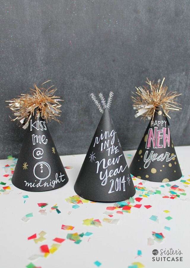 chalkboard party hats ... so cute and also a fun activity for the kids