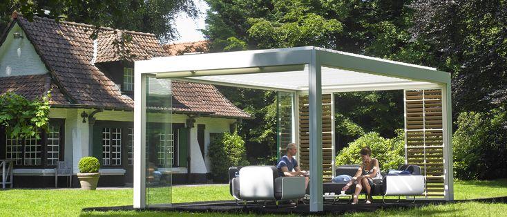 Jumbo terrasoverkapping lamellen overkapping tuin en terras overdekt terras veranda - Tent tuin pergola ...