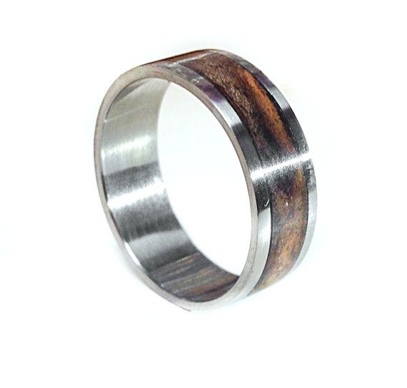 Mens Wedding Band Wood Ring
