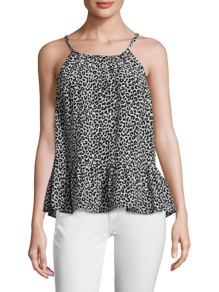 Tracy Reese Easy Silk Printed Flounce Top