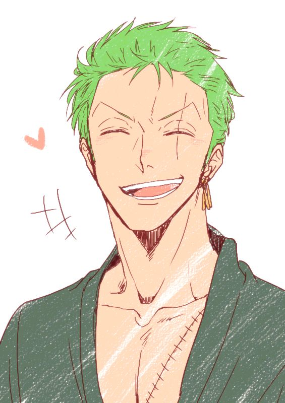 Roronoa Zoro. Hoe can you defeat your enemies? Just smile.