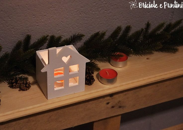 Lanterne in legno a forma di casetta - tutorial