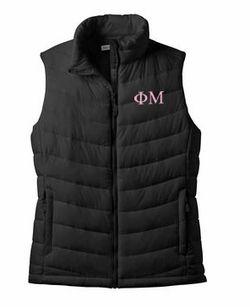 Sorority Ladies Mission Puffy Vest SALE $59.95. - Greek Clothing and Merchandise - Greek Gear®