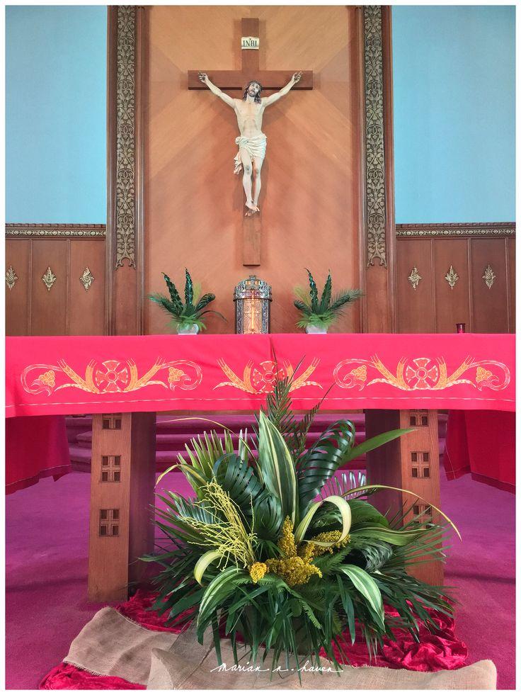 Palm Sunday 2016 Church Altar Decorations Palm Sunday
