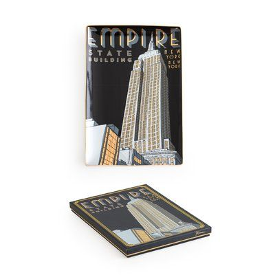 Rosanna Jazz Age Empire State Building Accent Tray