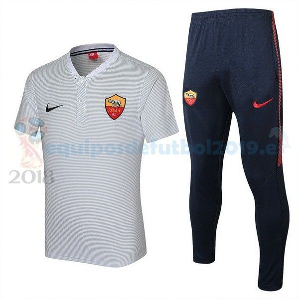 Camisetas De Futbol POLO  Equipos De Futbol Baratas 2018 - Futbol  Originales Conjunto Completo Polo As Roma 2017 2018 Blanco 6dbc4e0c8225b