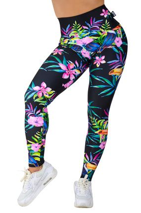 Performance High Waisted Leggings - Tropicala $125