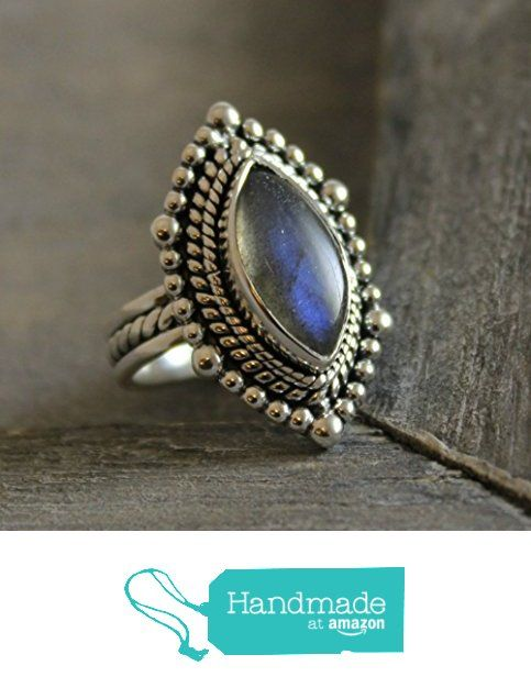 Marquise Cabochon Labradorite Sterling Silver Ring, size 9 from Sophia Rose Jewellery https://www.amazon.com/dp/B01LZDOA2I/ref=hnd_sw_r_pi_dp_jIJ.xb7KGMZEJ #handmadeatamazon