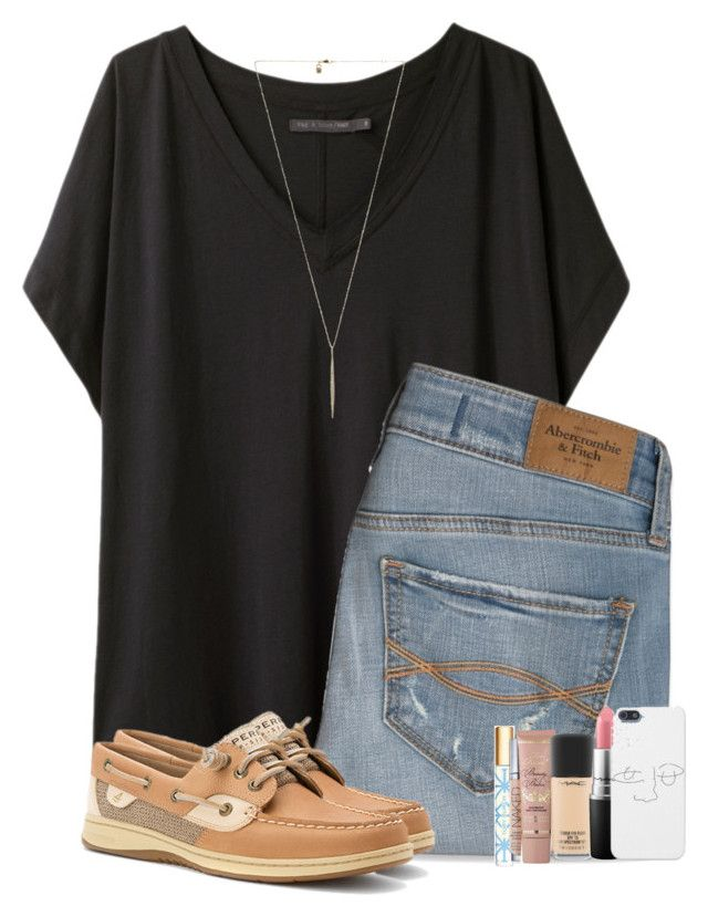 """""""Fuller House is perfection❤️"""" by hailstails ❤ liked on Polyvore featuring rag & bone, Abercrombie & Fitch, Tory Burch, Urban Decay, Too Faced Cosmetics, Sperry, MAC Cosmetics and Michael Kors"""