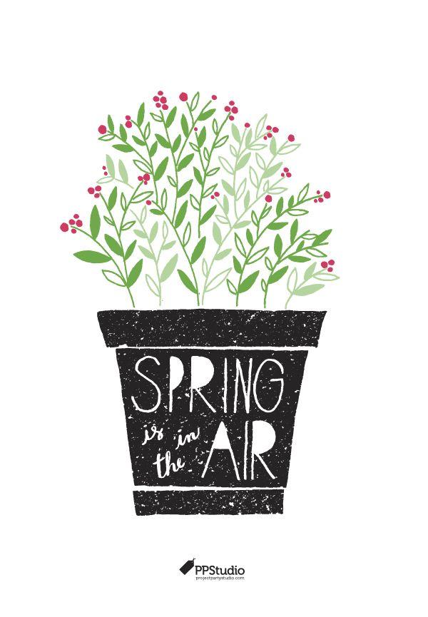 """Lámina imprimible gratis Project party Studio """"spring is in the air"""" >> """"Spring is in the air"""" free printable"""