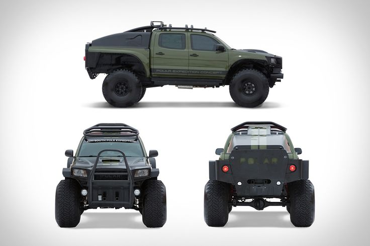 Toyota Tacoma Polar Expedition Truck - it looks like a real life tonka toy, I love the cut away wings