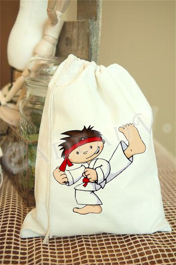 Personalized Karate Treat Bags /10 by CadeauVert on Etsy, $27.50