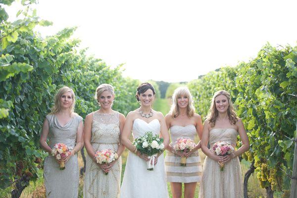 New England Vineyard Wedding - photo by Lens CAP Productions http://ruffledblog.com/new-england-vineyard-wedding