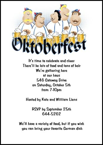 24 Best Oktoberfest Invitations Images On Pinterest Celebrations