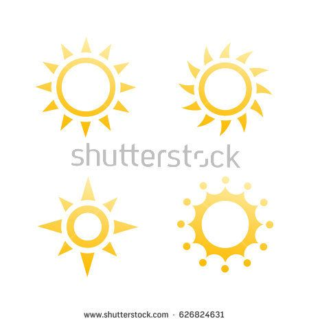 sun logo elements, icons