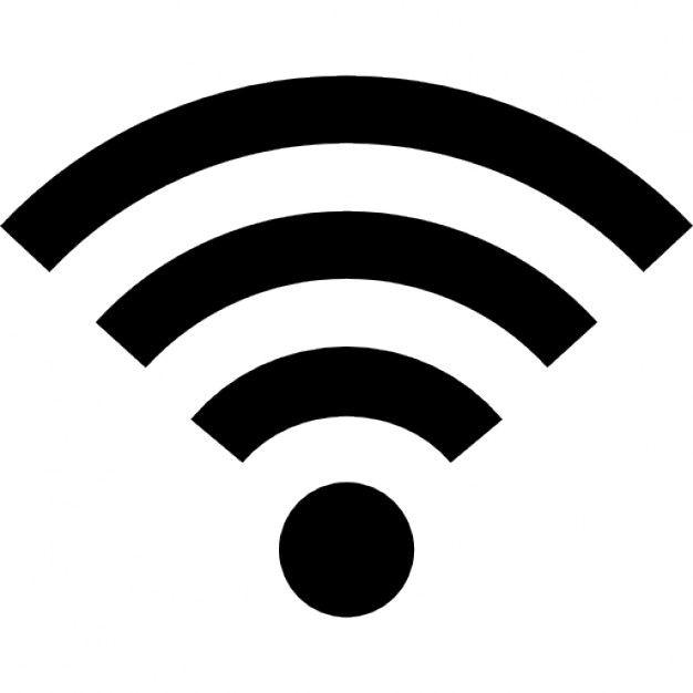 Wi-fi sinal símbolo médio