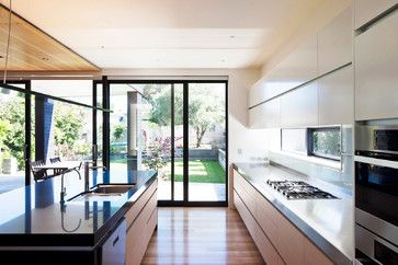 Contemporary New House in Pt Chevalier contemporary kitchen
