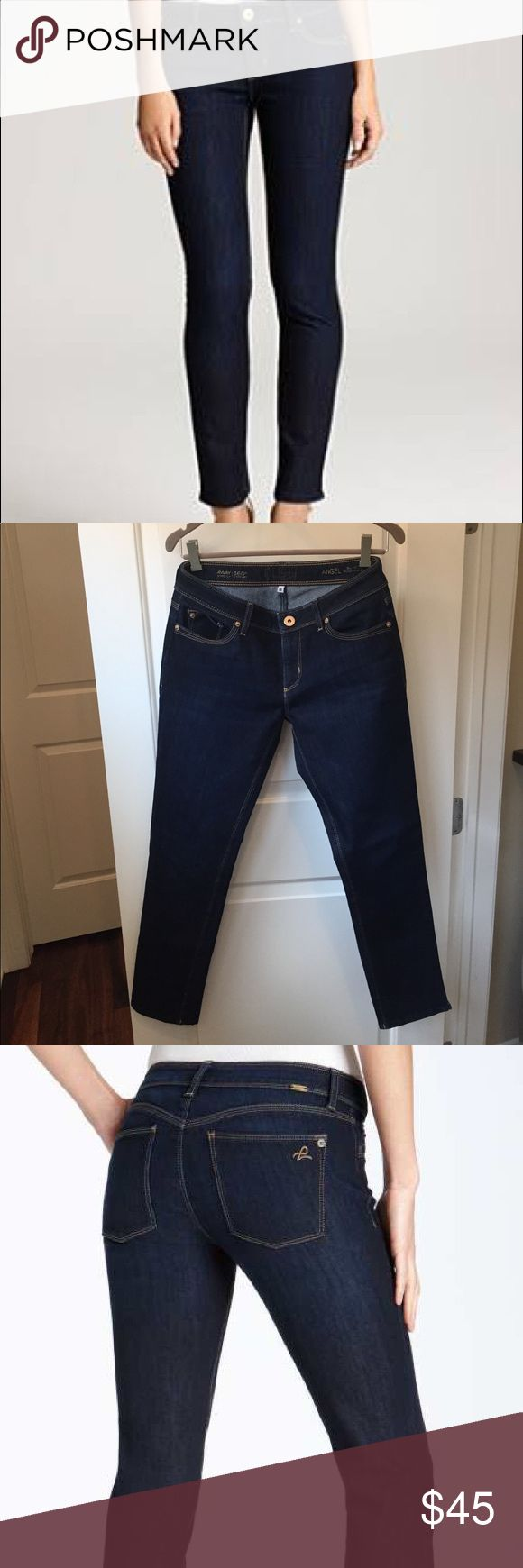 """DL1961 Angel Ankle Cigarette Jeans, Size 28 DL1961 Angel Ankle Cigarette Jeans, Size 28. Color is Mariner. Cute 1"""" notch at hem on each side. Great condition! Barely worn. DL1961 Jeans Ankle & Cropped"""