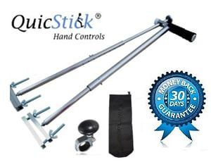 Get the latest and the most efficient varieties of vehicle hand controls for the disabled people. These are easy to hold and designed carefully for the left-handed and right-handed drivers. Also, they suit all kinds of vehicles and are easy to install. Contact Quic Stick today.
