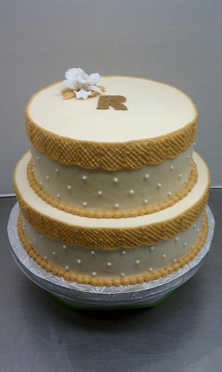 Cake Decorating: Buttercream Vintage Baby Shower Cake