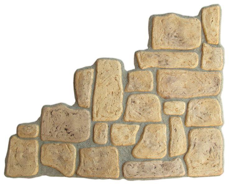 Pietre da rivestimento mod. Toscana, finitura: old stone. Esempio di posa in opera.