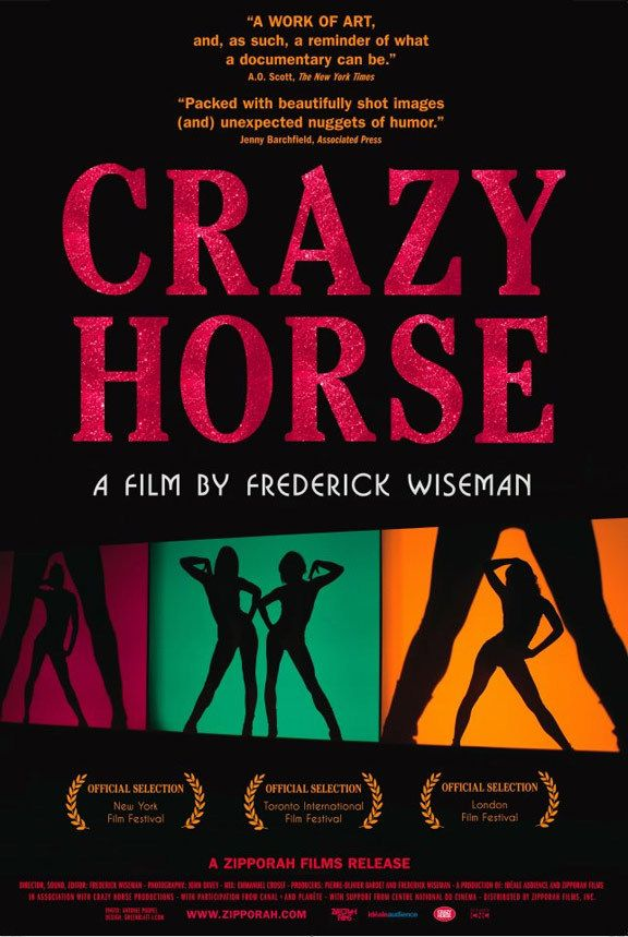 Directed by Frederick Wiseman.  With Philippe Decouflé, Naamah Alva, Daizy Blu, Philippe Katerine. A cinéma vérité look inside Paris' Crazy Horse, a club that boasts the greatest and most chic dancing in the world.