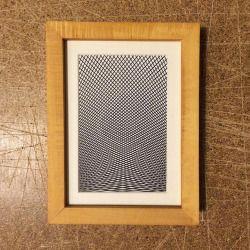 'Tesselation' 1 colour screen print. a5
