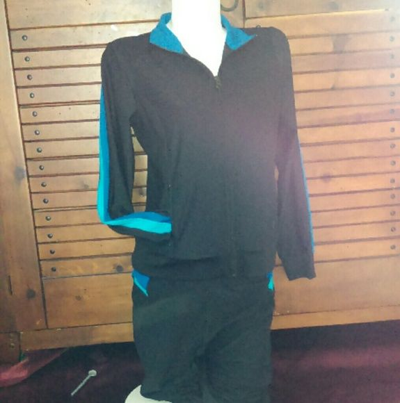 Athletic wear matching pants/jacket set. Athletic wear matching pants/jacket set. Very stretchy, comfortable. Pants are capris. Xersion Other