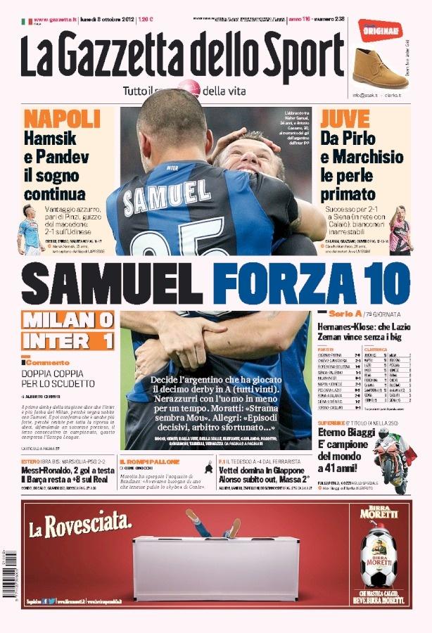 la prima pagina del 08 10 2012