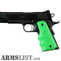 ARMSLIST - For Sale: ZOMBIE GREEN 1911 GRIP WRAP AROUND GRIPS