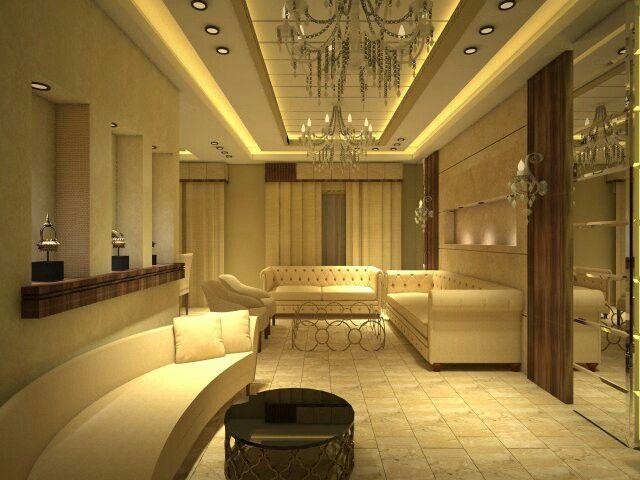 Elegant Saloon Eve Interior Design Amman, Jordan