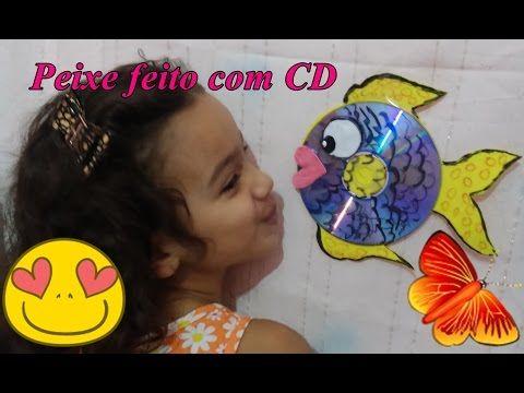 DIY Peixinho feito com CD e EVA - YouTube