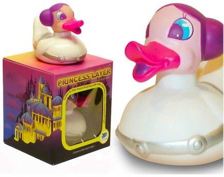 Locomocean disco duck Princess Layer.   From Star Wars the Illuminating, water activated  Bath Duck.  Simply place the Duck on the water and watch the automatic colour changing LED bulbs light up and slowly cycle through colours.The Internal light turns on with contact with water, and off when duck is removed.