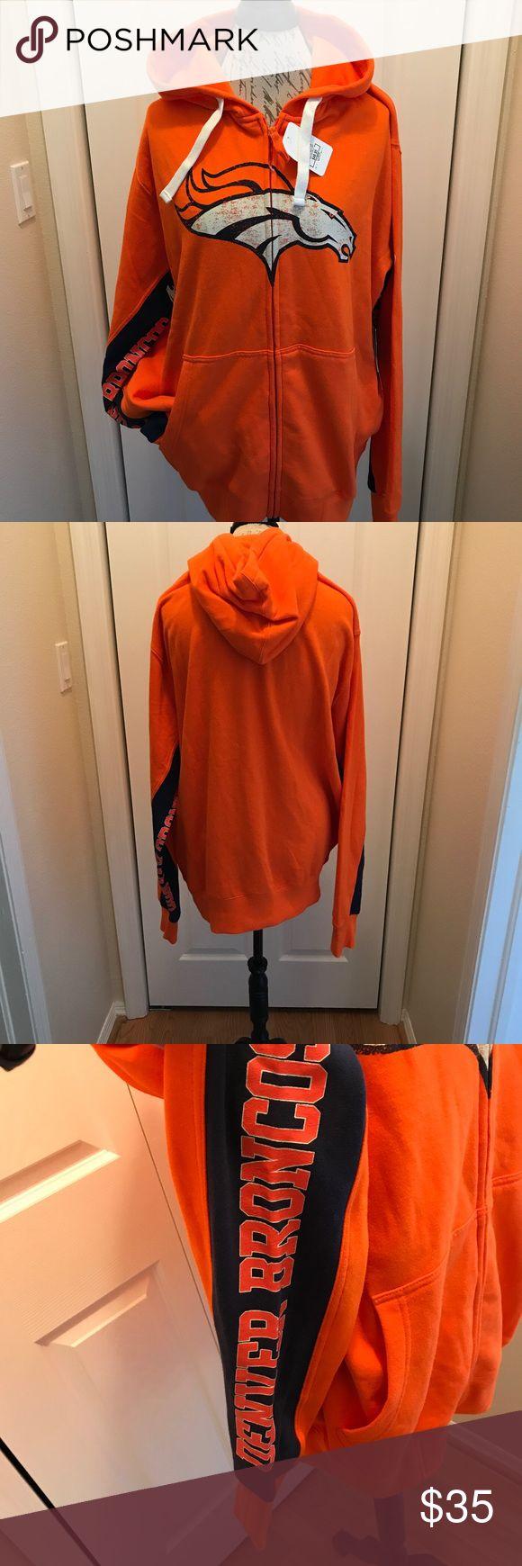 NFL Sweatshirt size XL Denver Broncos NFL Men's Sweatshirt Denver Broncos Jackets & Coats