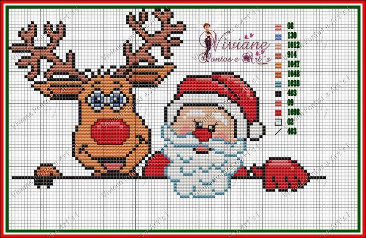 Viviane Pontos e Art's: Gráficos de Natal Papai Noel e Rena 2014